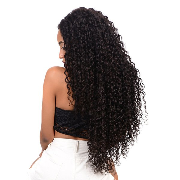 Chinese Curly Hair 3 Bundles with Closure Unprocessed 7a Peruvian Virgin Human Hair Bundles with Free Part Closure