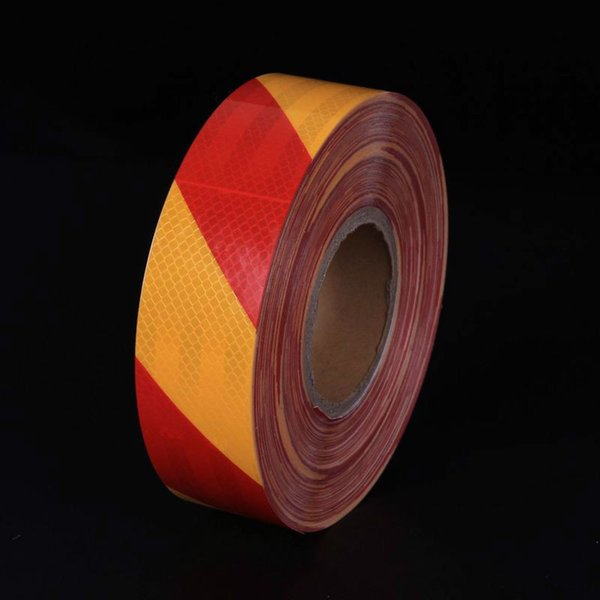 best selling 5CM Width Twill PET Crystal Reflective Warning Tape Self-adhesive Reflective Sheeting Road Traffic Safety Material