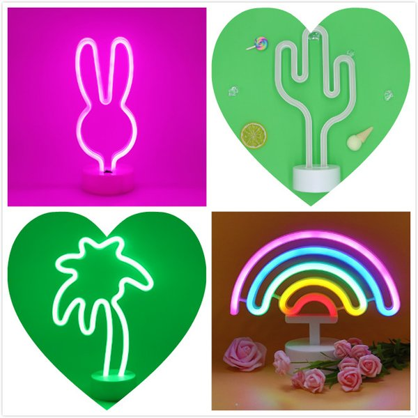 8 Mode NEW Pineapple Neon Signs, LED Neon Light Sign with Holder Base for Party Supplies Girls Room Decoration Accessory for Luau Summer