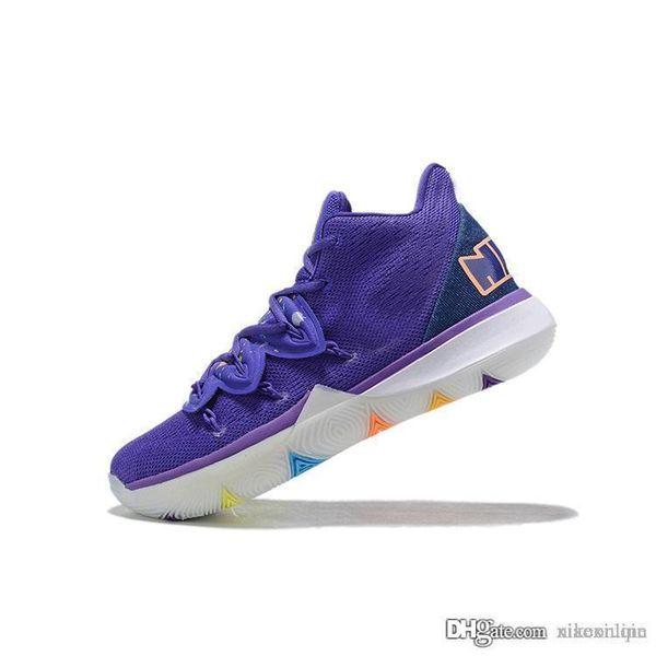 Ucuz erkek yeni kyrie 5 PE basketbol ayakkabıları Mor Siyahlar Altın BHM Easters Çoklu Yeşil kutu boyutu ile Irving spor ayakkabısı çizme kyries 7 12