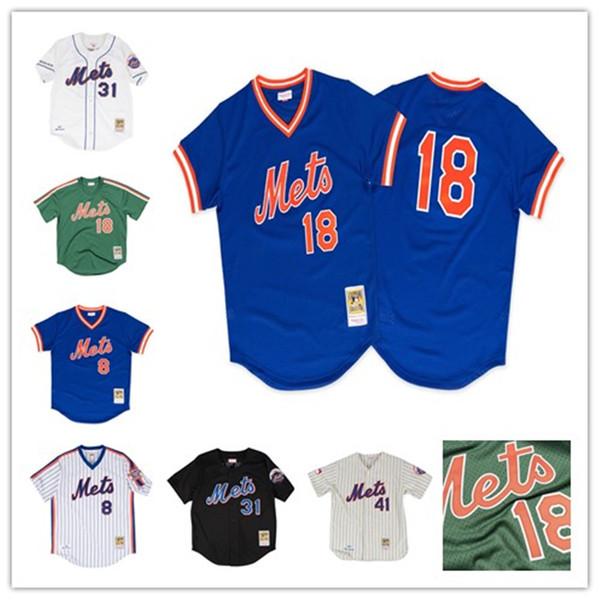Erkek New York Keith Hernandez Forması Darryl Çilek Dwight Mets Gooden Gary Carter Mike Piazza Tom Seaver Beyzbol Formalar