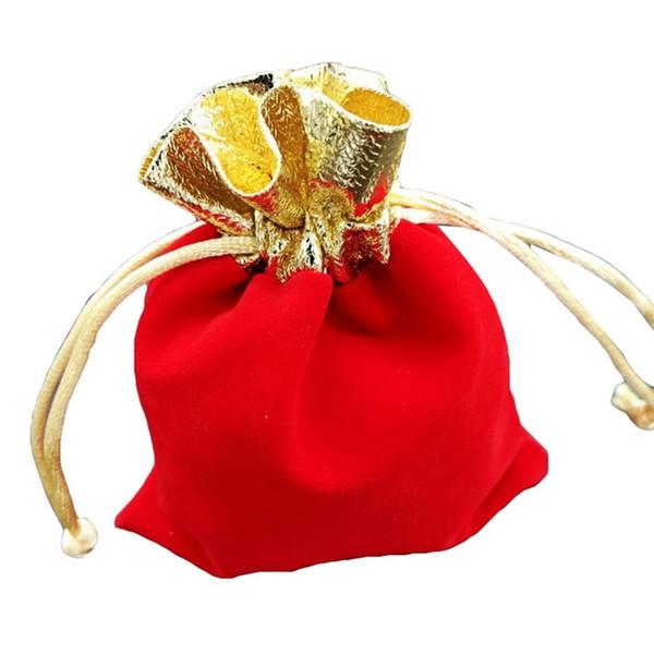 Festival de Año Nuevo navideño Lucky Bag Con Regalo Sorpresa Gratuito, Cajas de Bolsas de Regalo de Boda Bolsas de Joyería Suave Regalo Pequeño