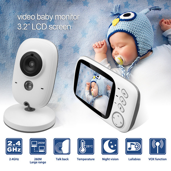 DANMIN 3.2 inch Baby Monitor Temperature Monitoring Wireless Video Color High Resolution Baby Nanny Security Camera Night Vision