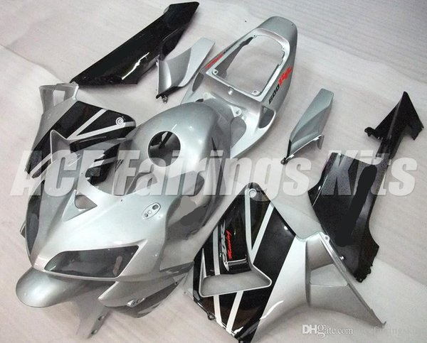 New ABS motorcycle bike Fairings Kits Fit For HONDA CBR600RR F5 2005 2006 05 06 600RR CBR600 bodywork set custom Fairing silver black