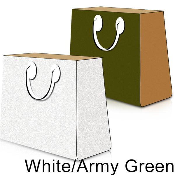 Белый / Армейский зеленый