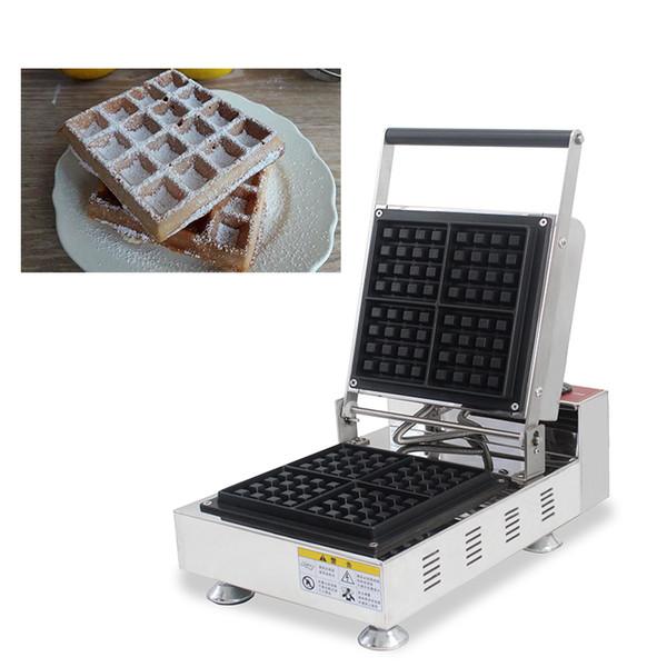 Non-stick Squre Shaped Belgian Liege Waffle Machine Electric 110v 220v Brussels Waffle Maker Iron Baker Making Plate