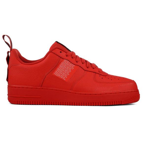 Acheter 2020 Nike Air Force 1 One Af1 Hommes Femmes Chaussures De Course Triple Noir Blanc Utilité Rouge Volt Total Orange Hommes Formateur Mode