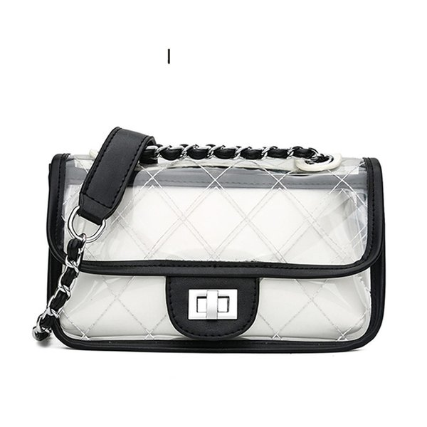 good quality Classic Clutch Messenger Bags Small Chain Shoulder Flap Bag Exquisite Transparent Bag Stylish Crossbody Bags