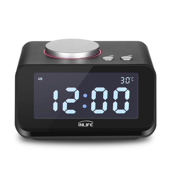 K1 Multi-function Alarm Clock with Thermometer Dual USB
