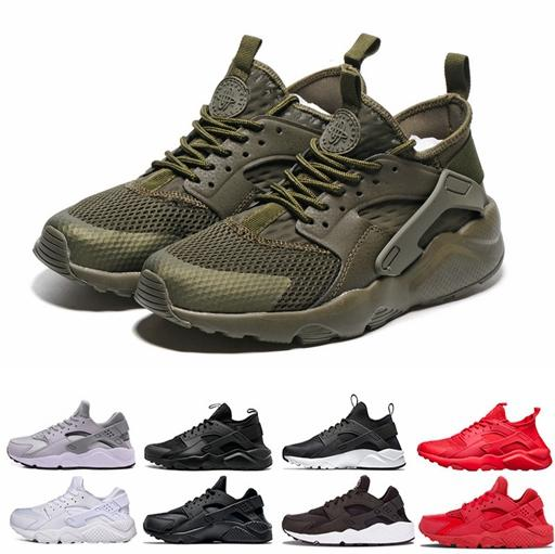 39d4f31a96bb4 Air Huarache 4 V Running Shoes For Men Women,Woman Mens 4.0 1.0 Army Green  Red Huaraches Man Sport Huraches Sneakers