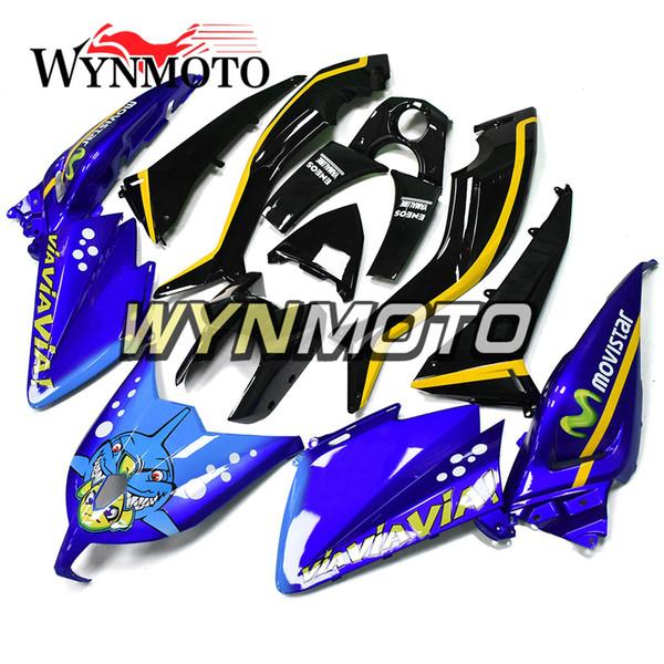 Carenados de motocicleta para Yamaha TMAX xp530 2012 2013 2014 ABS Inyección de plástico carenado de motos pintura de tiburón azul negro