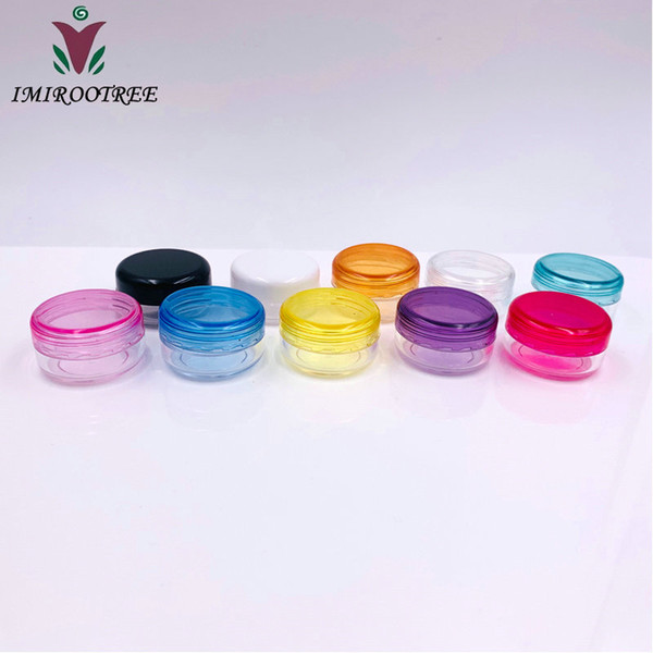 Free shipping 10pcs/lot 3g Round Empty Cosmetic Container,Small Sample Nail Art Canister,Eyeshadow Cream Jar