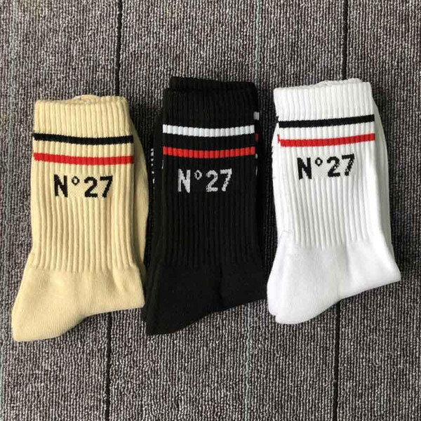 19SS 27 derece kalınlaşma havlu alt tüp çorap çift eğilim sokak pamuk deodorantı ter emici uzun tüp spor çorap
