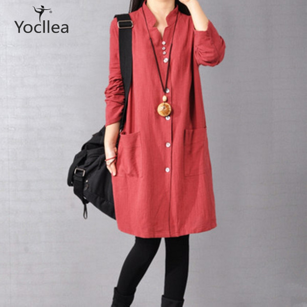 Casual women Shirt Dress Office Lady Loose Plus size Slim Vingtage Blouse Tops Dresses female Fashion Long Sleeve Dress Vestidos