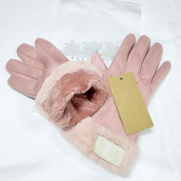 best selling Women Winter Finger Gloves Australia UG Gloves Thicken Ski Gloves Solid Color Warm Soft Good Quality DHL
