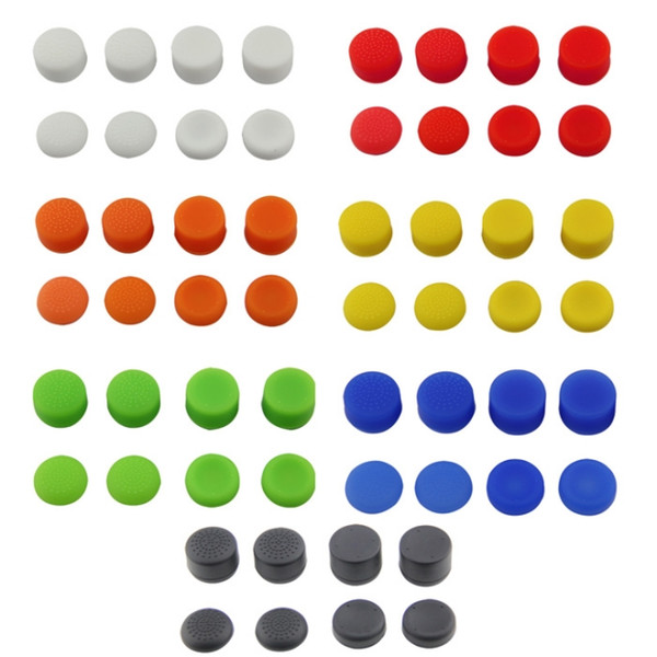 best selling Analog ThumbStick Joystick Grips Extra High Enhancements Cover Caps For Sony Play Station PS4 Game Controller 8pcs Set
