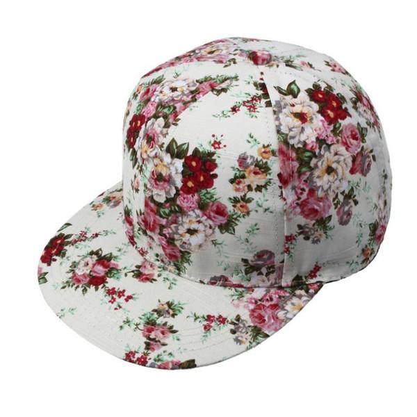 NewHigh Recommend Beautiful cheap Korean Women Summer Floral Hip-Hop Hat Flat Adjustable Baseball Cap casquette de marque gorro #220174