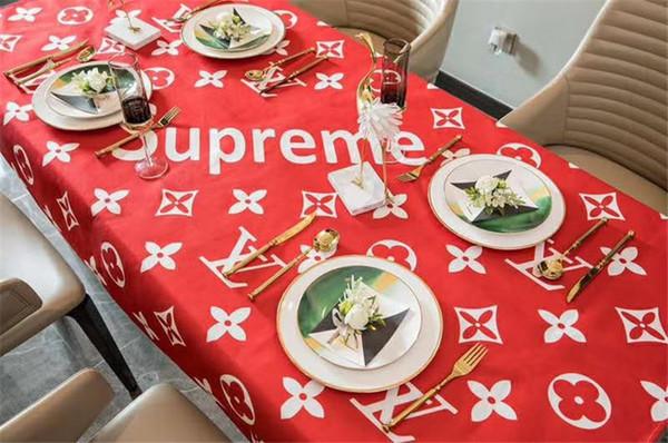 S Carta Pop Logotipo Toalha De Mesa Vermelho L Completo Floret Nova Sala De Jantar / Cozinha Pano Decorativo 3 Estilo
