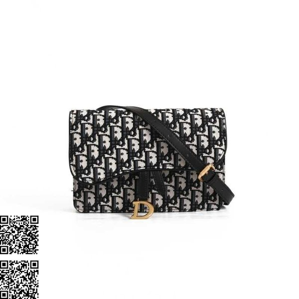 Women shoulder bag casual wild diagonal bag for women new canvas printing chain bag size 22x14x3cm
