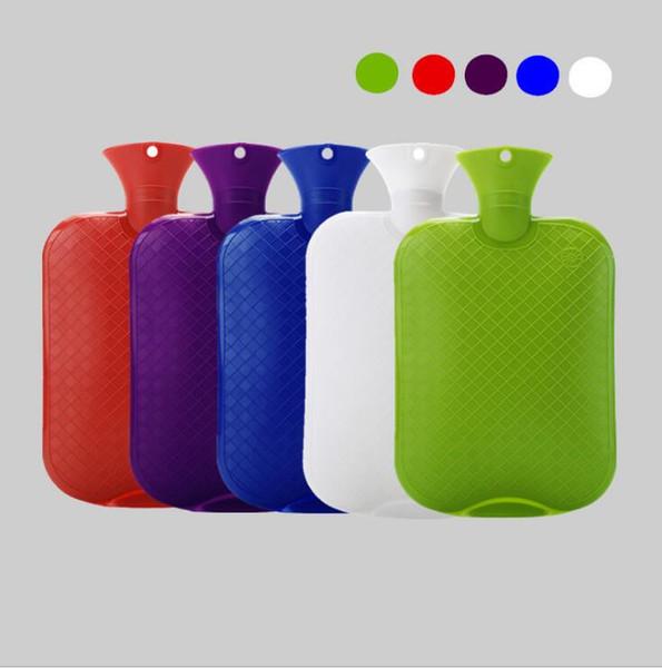 2000 ML Agua Caliente Bolsa de PVC 6 Colores Calentamiento de la mano Botellas de agua Calentamiento relajante relajante Bolsas de terapia de frío OOA6044