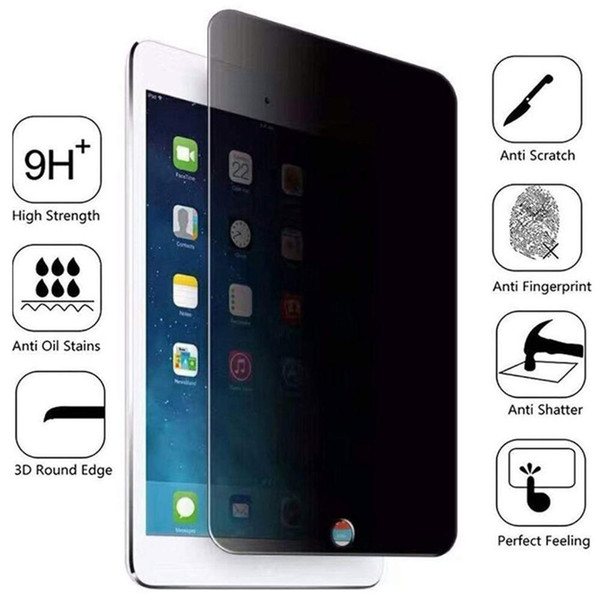 top popular Privacy Tempered Glass 2 3 4 Mini 2 3 4 5 Anti Screen Protector for iPad Pro 9.7 10.5 11 2017 2018 2019 2019