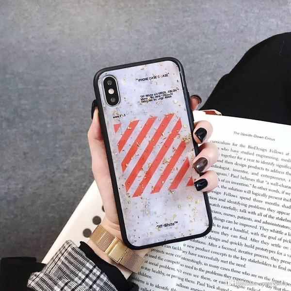 Yeni Moda sokak Telefon Kılıfı Için iPhone 6 6 s 7 8 Artı X 10 Xs MAX XR beyaz Yumuşak plastik silikon tpu Kabartmalı Kapak