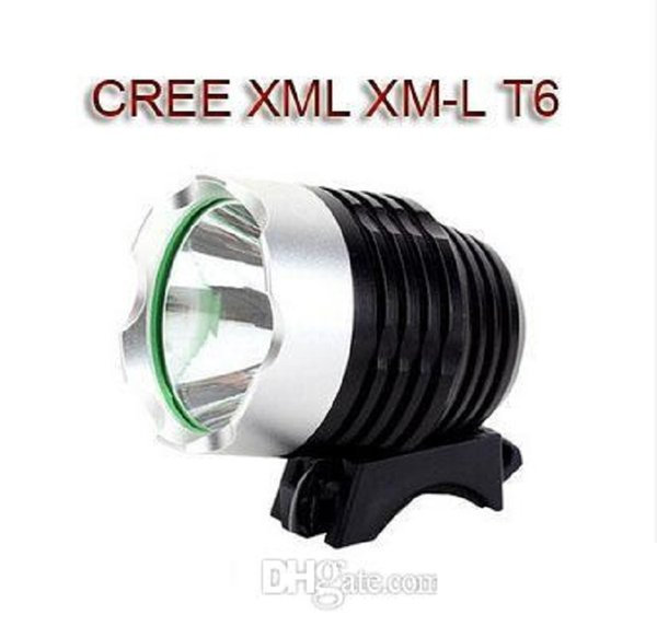 top popular T6 Bicycle Light HeadLight CREE XM-L LED 1800 Lumens 3 Mode Bike Front Light LED HeadLamp With 8.4v Battery Pack Charger ready to ship 2021
