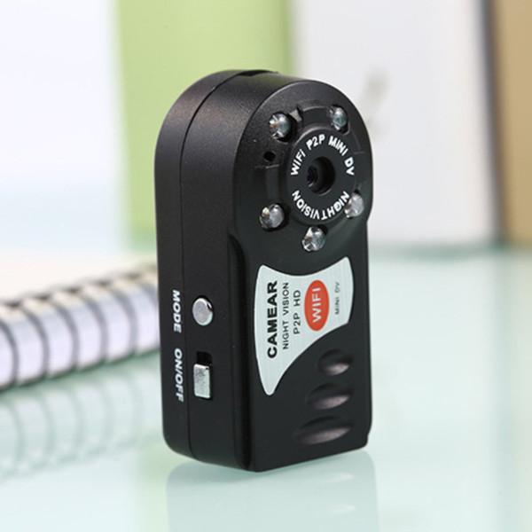 Q7 Mini Wifi DVR Videocámara IP inalámbrica Cámara de video Grabadora Cámara de visión nocturna por infrarrojos Detección de movimiento Micrófono incorporado