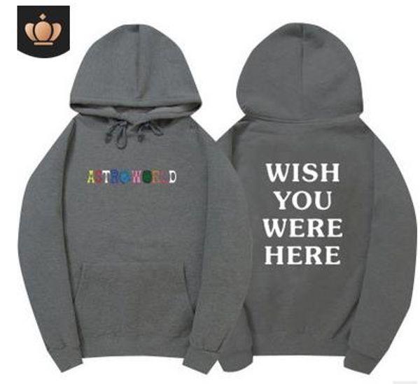 top popular New   Astroworld WISH YOU WERE HERE hoodie sweatshirt men and women hoodies 016 S--XXL 2020