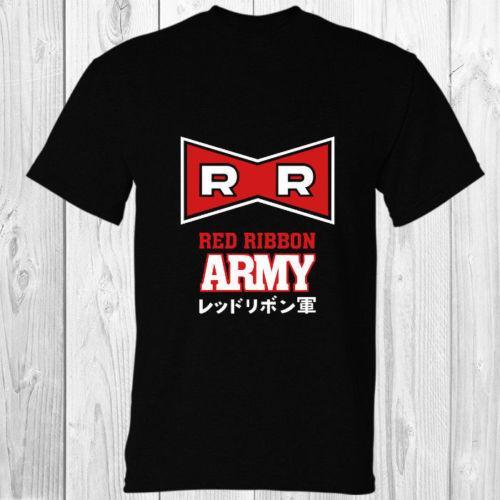 Dragon Ball Красная Лента Армия Черная Футболка S - 3XL Мультфильм футболка мужская Мужская Новая Мода футболка бесплатная доставка смешные топы