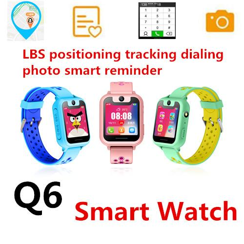 Q6 Smart Watch Child smart phone watch Dial&Answer Call Waterproof LBS Camera Micro chat SOS emergency alarm Remote Control KID Watches