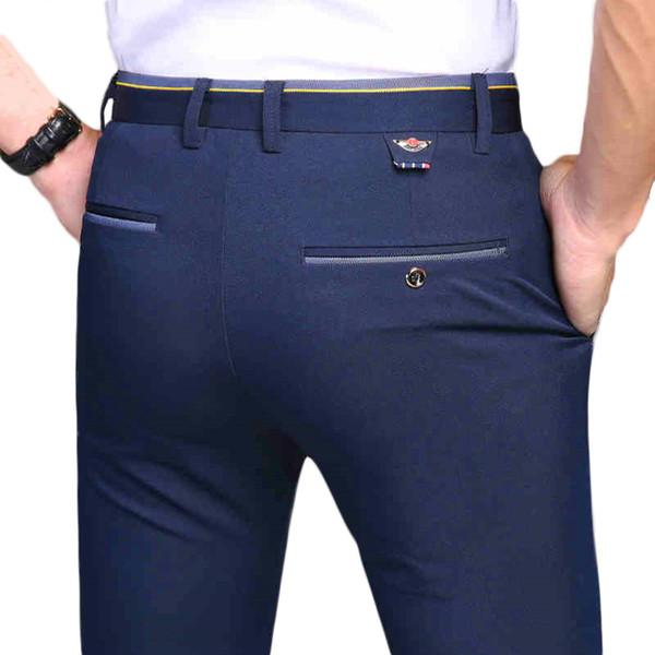 2018 New Pants Men Spring Autumn Fashion Commerce Casual Pants Men Straight Business Suit Trousers brand Mens Pant Size 38