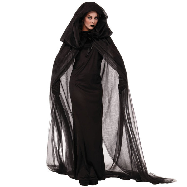 Halloween COS witch black death vampire makeup dance costume adult witch costume cosplay costume