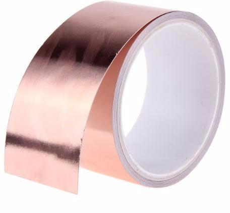 best selling 50mm X 5.5m Double Conductive Adhesive Copper Tapes Great for stained glass