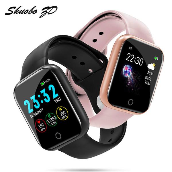 Acheter I5 Intelligent Montres Sport Étanche Pour Téléphone Iphone Smartwatch Moniteur De Fréquence Cardiaque Fonctions De Pression Artérielle Pour