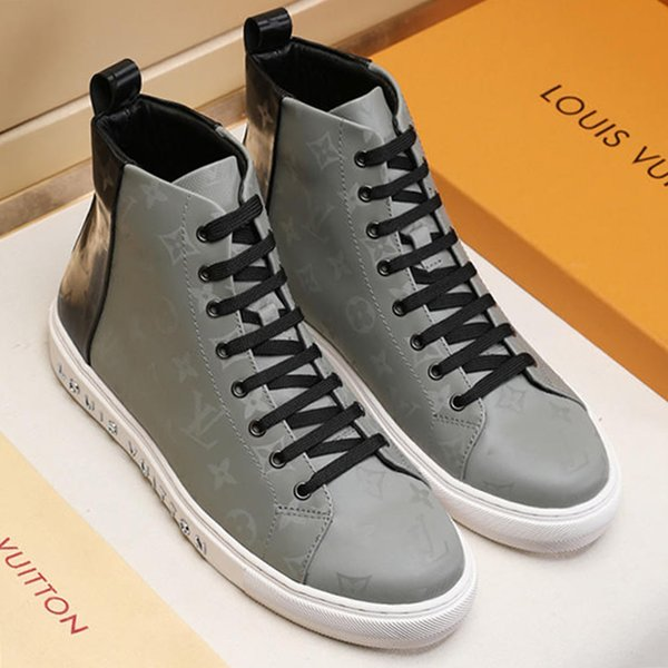 Mens Shoes Casual Fashion Top Quality Lace-Up Platform Footwears Zapatos de hombre Luxury Fashion Boots Tattoo Bottes Hommes Men Shoes