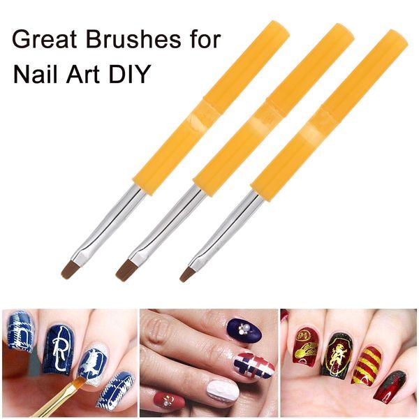 9 unids UV Gel Acrílico Nail Brushes Kit Falso Nail Tips Profesional Arte Diseño Pintura Pluma Conjunto Manicura Herramienta Pluma