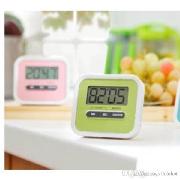 New A preguiçoso cozinhar temporizador cozinha que cozinha 99 Minute LCD Digital Medication Alarm Clock Esporte contagem regressiva Calculadora Kitchen Timers
