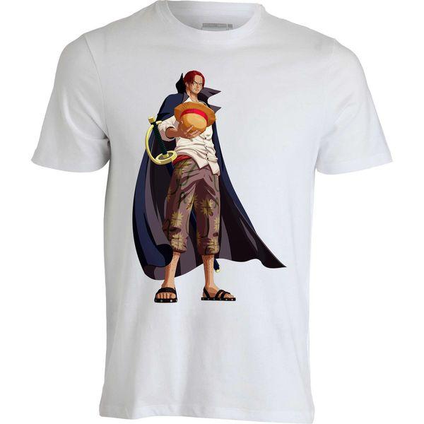 Red hair Shanks One Piece Younkou anime Japan funny men clothing top t shirt Men Women Unisex Fashion tshirt Free Shipping black
