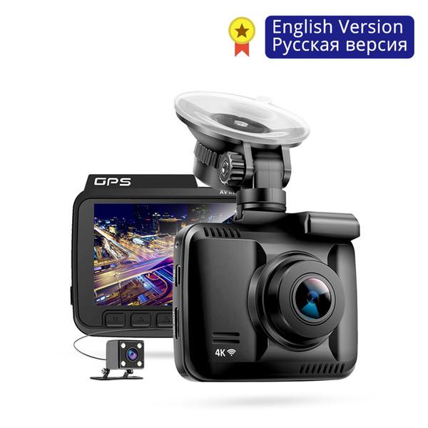 Full HD 2880P GS63H 4K GPS WiFi Dash Cam Çift Lens Araç DVR Araç Geri Görüş Kamerası Gece Görüş Dashcam 24H Yeri Monitörü Dahili