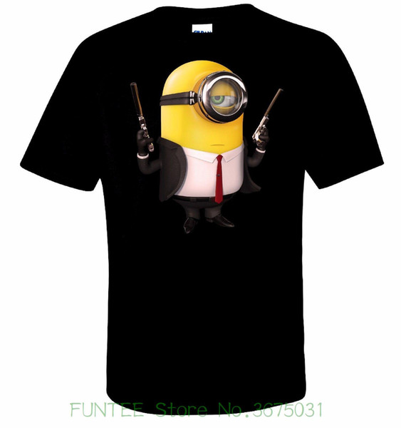 Women's Tee Minion Hitman T Shirt 100% Cotton Tee By Bmf Apparel Funny Femme Short Sleeve Tracksuit Clothing