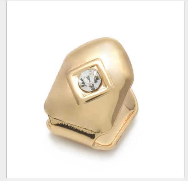 Single drill single golden bracket Halloween teeth Grillz rapper hip hop jewelry