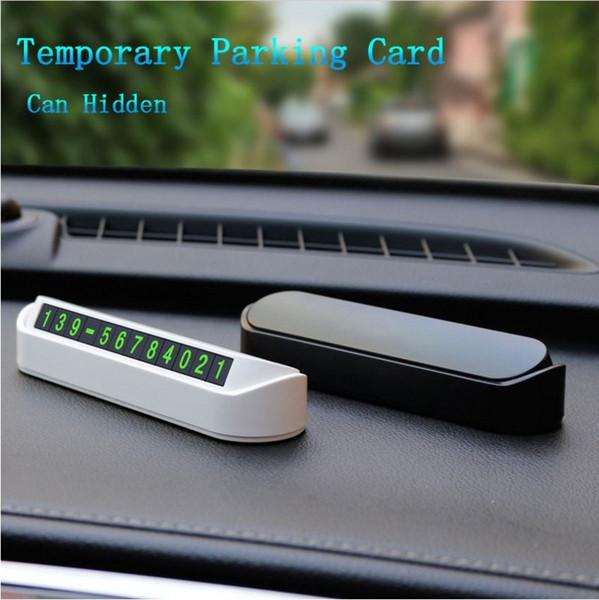 Estilismo del automóvil Tarjeta de estacionamiento temporal Número de teléfono Placa de la placa Número de teléfono Estacionamiento en el automóvil Estilo de automóvil Accesorios (Venta al por menor)