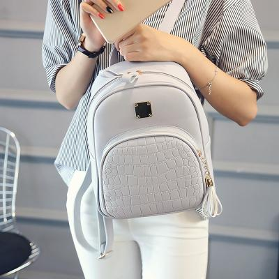 Fashion embossed school Bags Backpack high quality small PU leather women bags korean style free fast shipping
