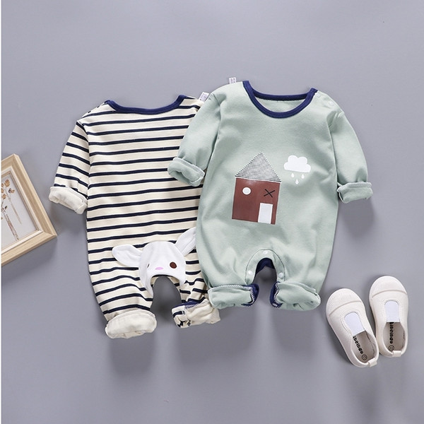 Romper Body Suit For Newborn Baby Infant Toddler Kids Cheap Jumpsuit One-pieces Onesie Long Sleeve Spring Autumn 0 3 6 9 Months J190524