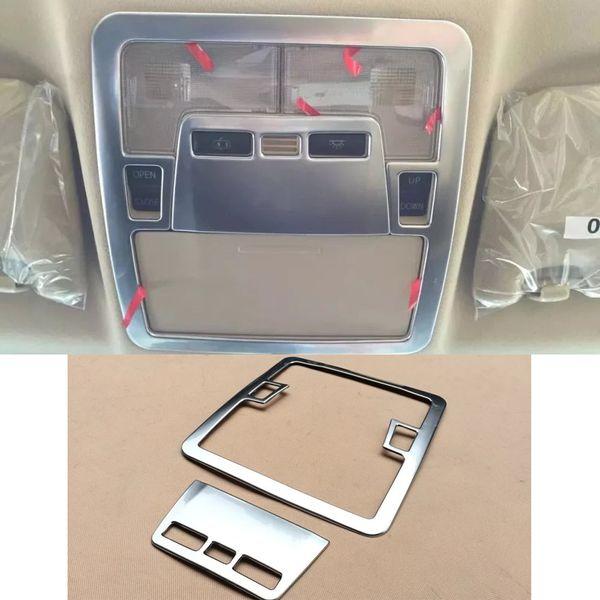 Ajuste interior de la decoración de la lámpara de lectura del coche del cromo del ABS para Toyota Camry 2015