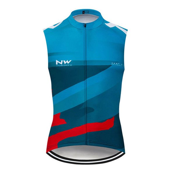 2019 Summer NW Team Men Sleeveless Cycling Jersey Racing Vests road Bike clothes Quick Dry Bicycle Clothing Sport uniform Y032801