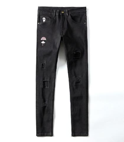 19SS Neue FF Jeans Denim Gerade Biker Röhrenjeans Freizeithose Cowboy Berühmte Marke FF Reißverschluss Designer Heißer Verkauf Herren Designer Jeans