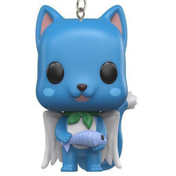 POP Pocket Pop Keychain Official Fairy Tail Happy pvc Action Figure Model Toys For Children Christmas Present Gift Doll toy D