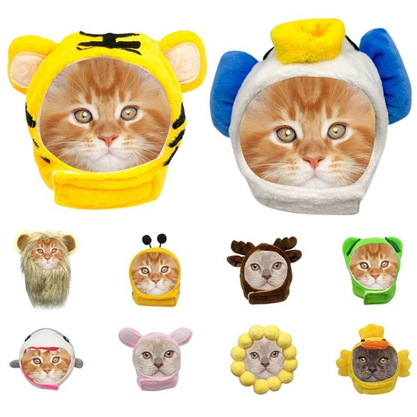 pet costume cosplay cat lions animals party costumes outfits cap hat party dress with ears cat hat cap headband headwear